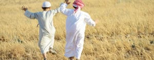 Leadership Vitality- man and son running, feeling vitalised